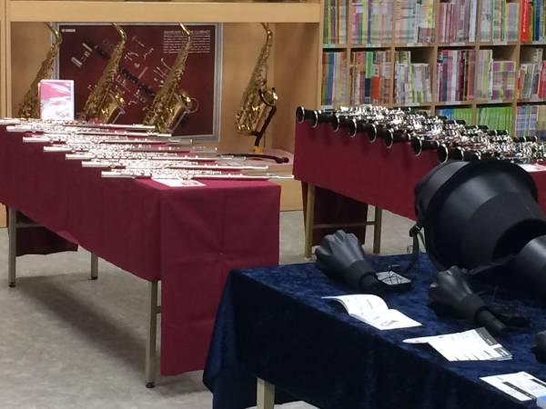 管楽器試奏会 明日から開催!画像